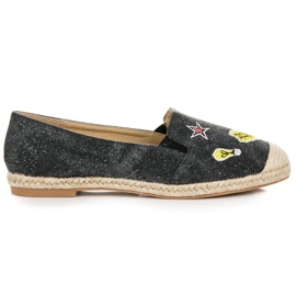 Seastar Espadrilles with patches black