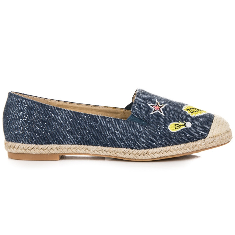Seastar Espadrilles with patches blue
