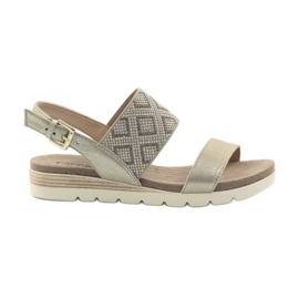 Caprice sandals women's shoes 28604 yellow