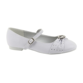 Ballerinas with communion rhinestones American Club 12/19 white