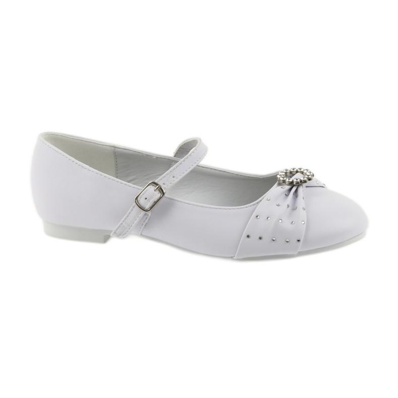 Ballet pumps Communion zircons American Club 12/19 white