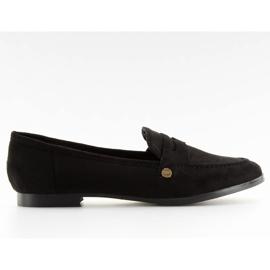 Women's black moccasins T298 Black