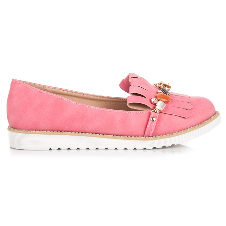 Vices Loafers with beads pink