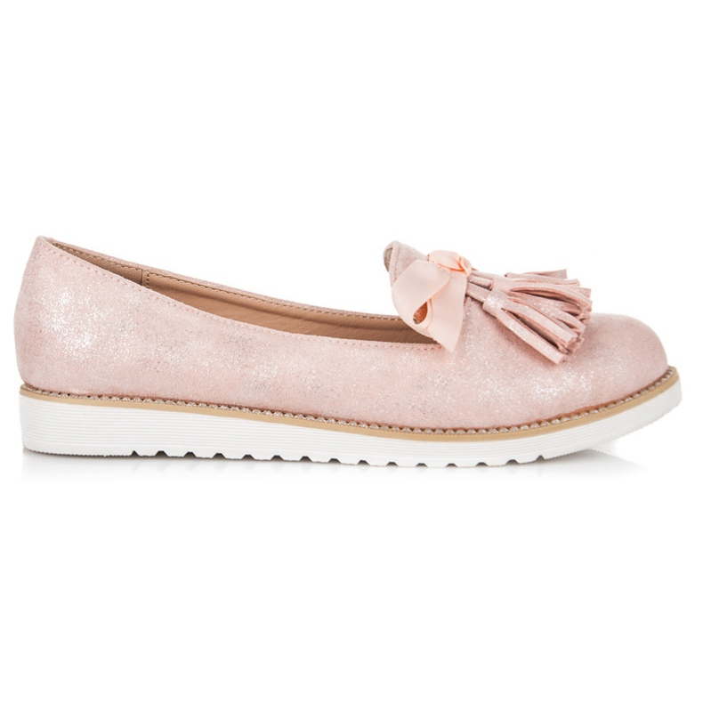 Vices Suede lords with fringes pink