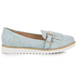 Vices Moccasins with a decorative buckle blue