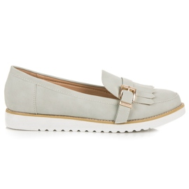 Vices Moccasins with a decorative buckle grey