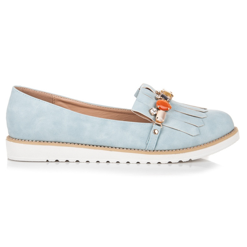 Vices Loafers with beads blue