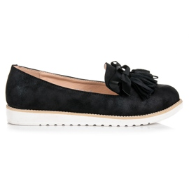 Vices Suede lords with fringes black