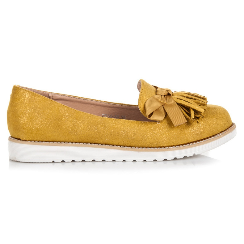 Vices Suede Lords With Fringes yellow