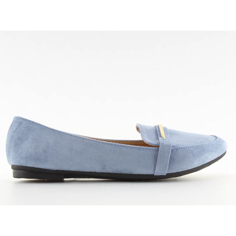 Women's loafers blue 9988-121 denim