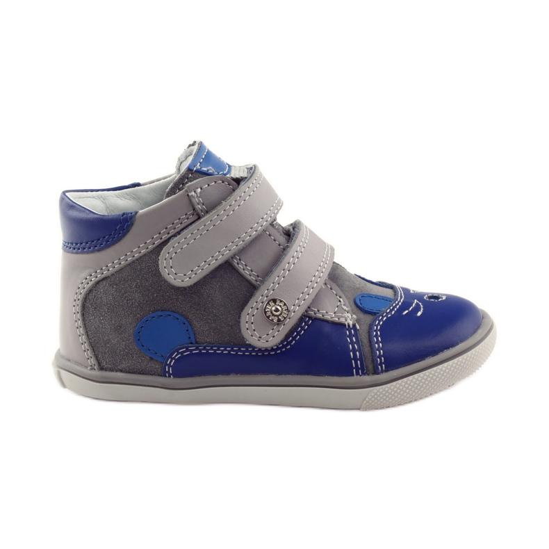 Boys' bootees, rabbit, Bartek 11702 grey blue