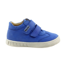 Blue Boys' shoes for Velcro Bartuś