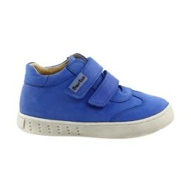 Blue Boys' shoes for Velcro Bartuś