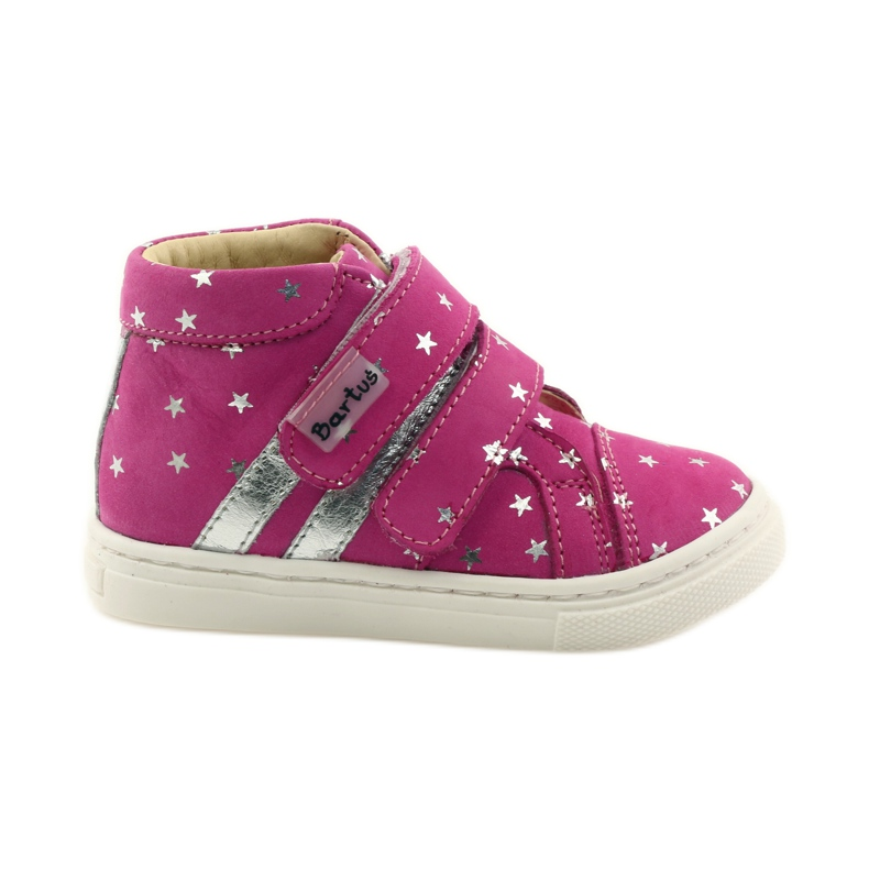 Girls' shoes in Bartuś stars pink grey