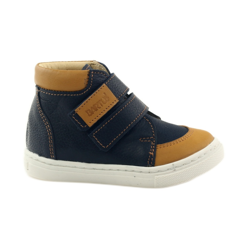 Boys' shoes for Velcro Bartuś navy brown