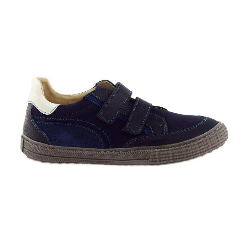 Boys' shoes, velcro Bartuś, navy blue
