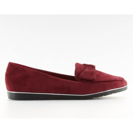 Loafers for women maroon 127-2 red