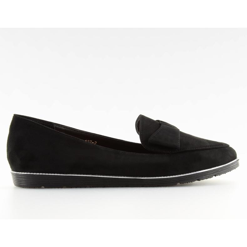 Women's loafers black 127-2 black