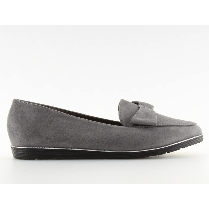 Women's loafers gray 127-2 gray grey
