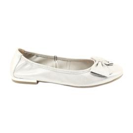 Caprice ballerinas shoes 22111 silver grey