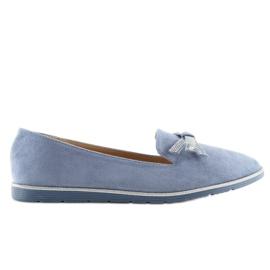 Women's loafers blue JN-182 blue