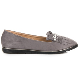 Moccasins with decoration grey