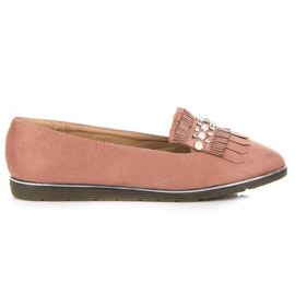 Moccasins with decoration pink