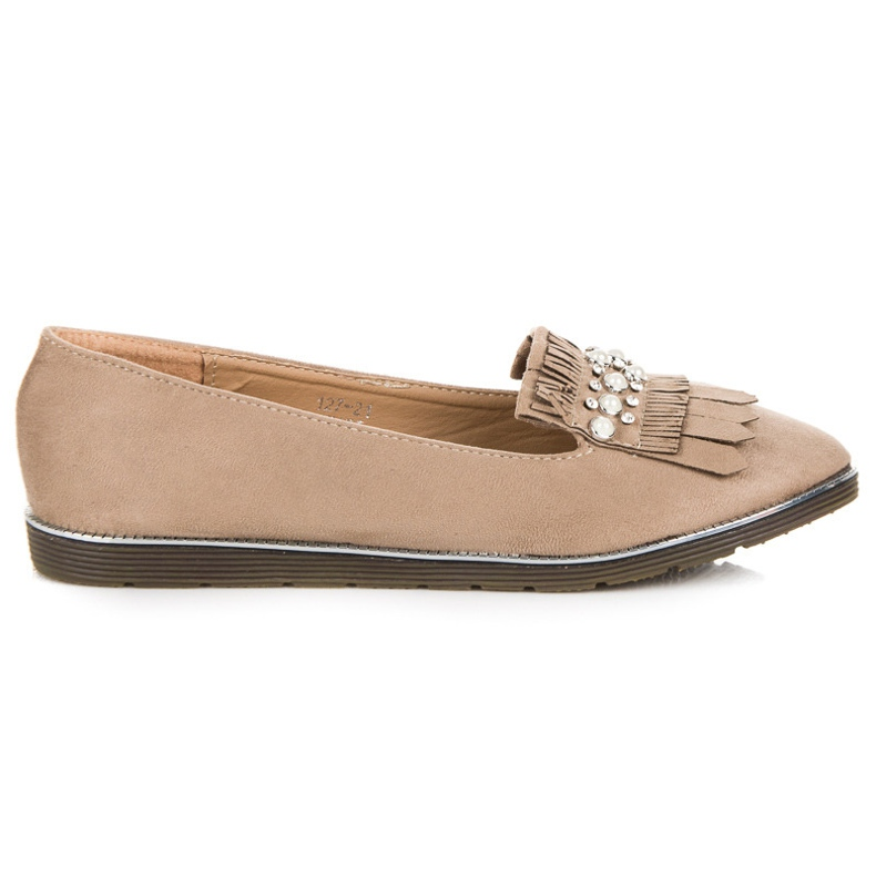 Moccasins with decoration brown