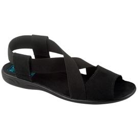 Comfortable black women's sandals Adanex 17498