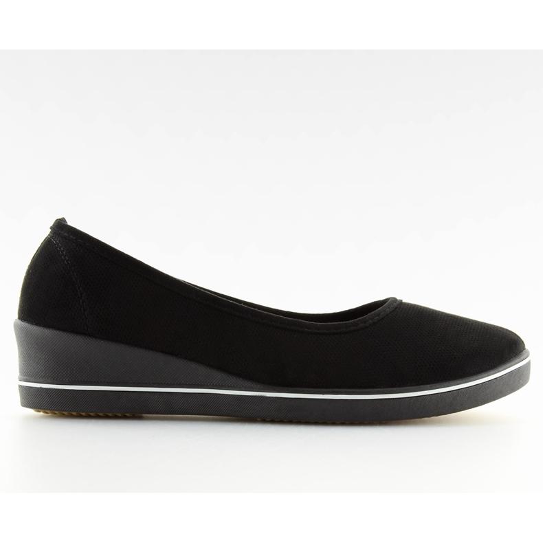 Ballet shoes wedges black D73 black