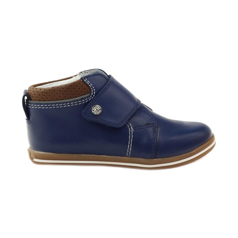 Velcro closure boots Bartek 31829 navy blue brown