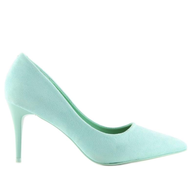 Suede high heels Candy Shop celadon LEI-90 Green