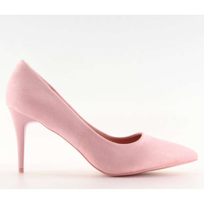 Suede high heels Candy Shop pink LEI-90 Pink