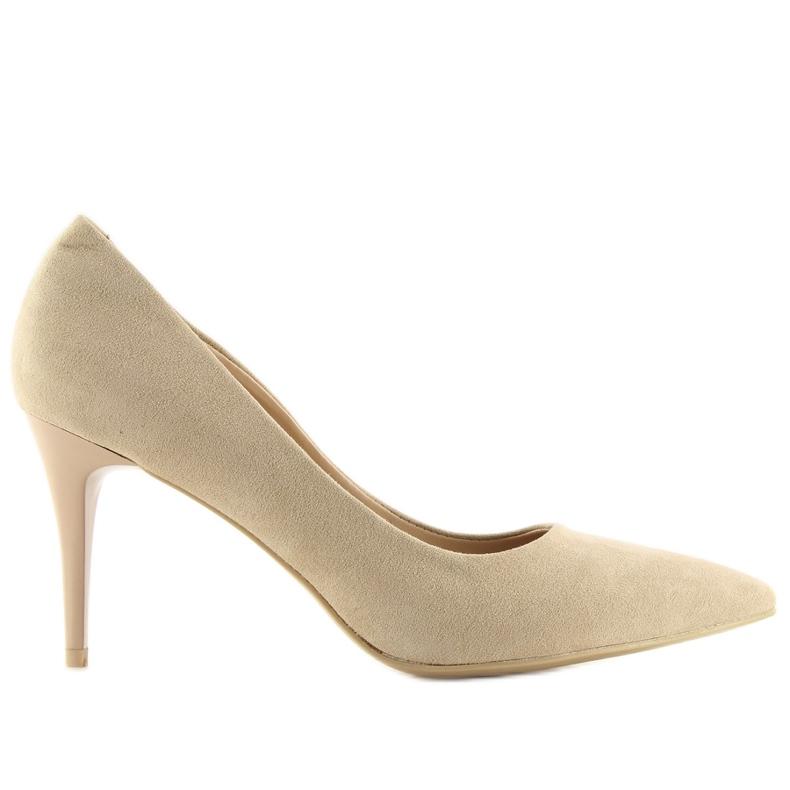 Suede high heels Candy Shop beige beige
