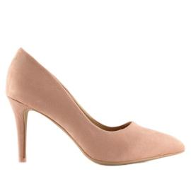 Women's pink suede stilettos RS-GH31 Pink