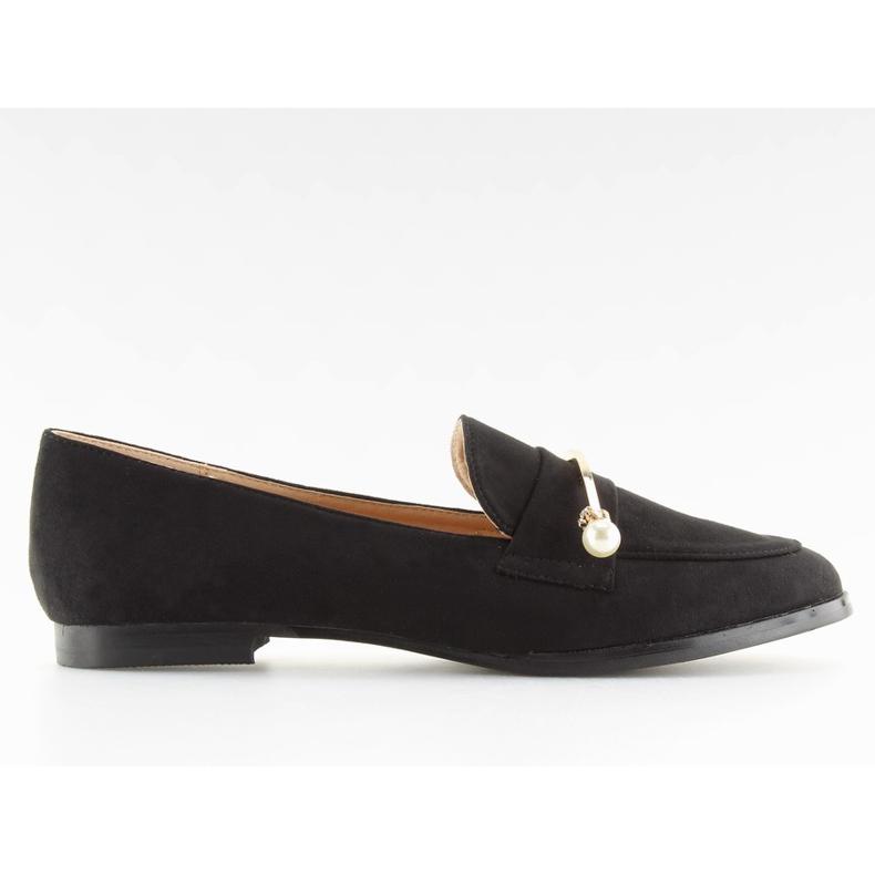 Black Women's loafers T315P Black