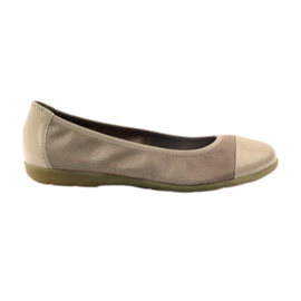Caprice women's shoes ballerinas 22152 leather brown