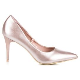 Vinceza Elegant pearly high heels pink