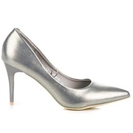 Vinceza Elegant pearly high heels grey