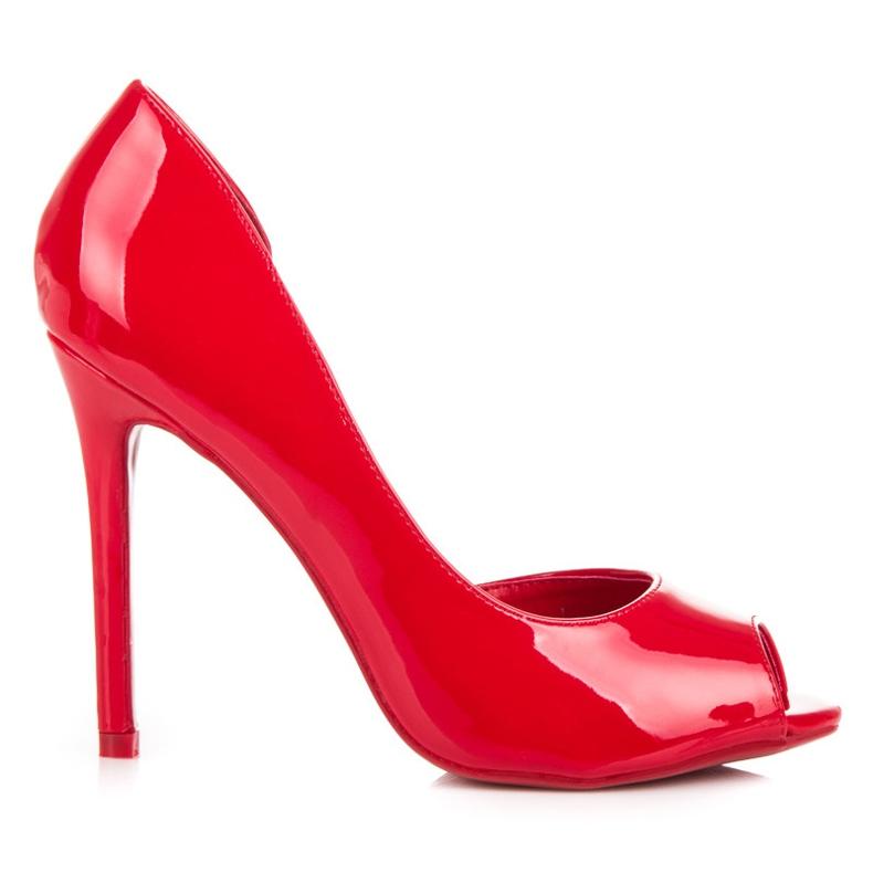 Seastar Lacquered open toe heels