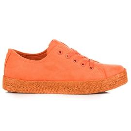 Kylie Orange Sneakers Espadrilles