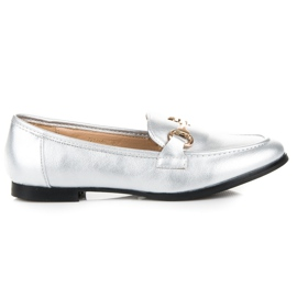 Vices Silver slip-on loafers grey