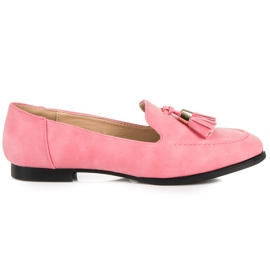 Vices Loafers With Fringes pink