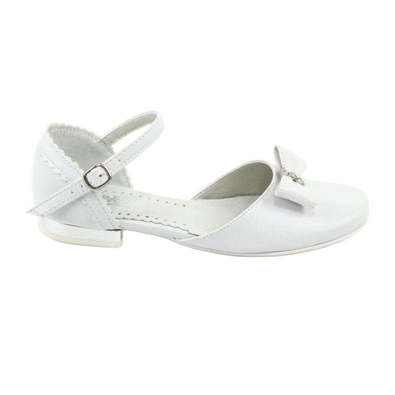 Courtesy ballerinas Communion Miko 671 white