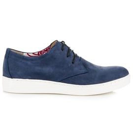 Vinceza Leather Walking Shoes blue