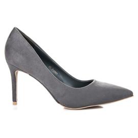 Vices Gray suede high heels grey