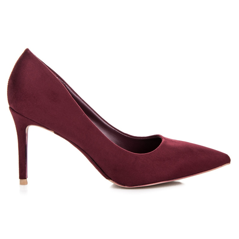 Vices Burgundy suede high heels multicolored