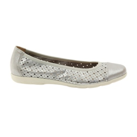 Caprice women's shoes ballerinas 22151 leather grey