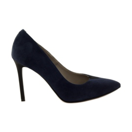 Edeo Pumps On Pin 3180 navy blue