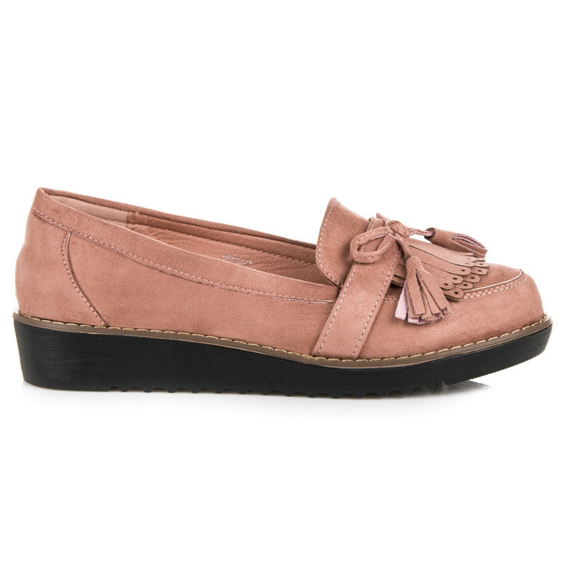 Seastar Loafers with tassels pink